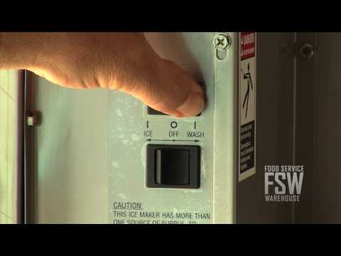 Ice-O-Matic Commercial Ice Machine Basic Cleaning Video: PART 1
