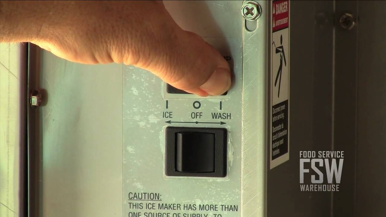 hight resolution of ice o matic commercial ice machine basic cleaning video part 1