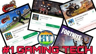 #1 GAMING TECH WCC2,REAL CRICKET 18,PUBG LITE, FORTNITE ON ANDROID