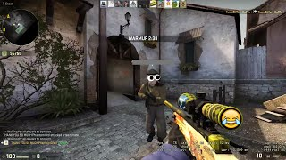 Russian guy goes crazy when he sees my AWP Dragon Lore