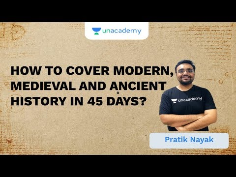 How To Cover Modern, Medieval And Ancient History In 45 Days? | UPSC CSE/IAS 2020 | Pratik Nayak