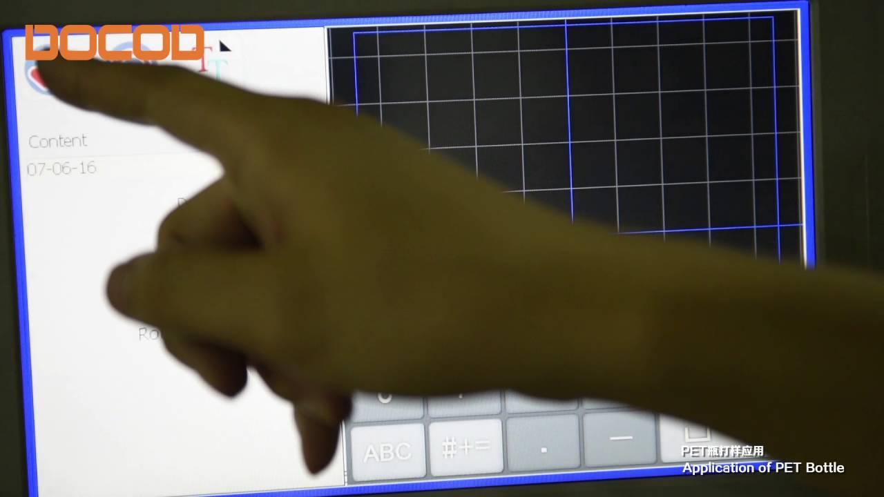 DOCOD X series CO2 Laser Marking Machine apply on PET bottle