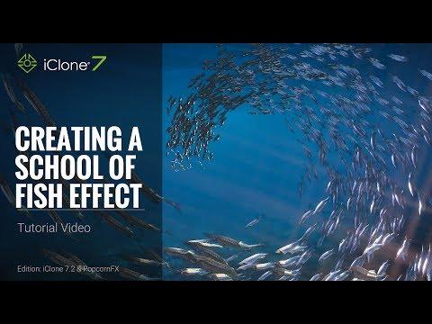iClone 7.2 Tutorial - PopcornFX Super Tools: Creating a School of Fish Effect