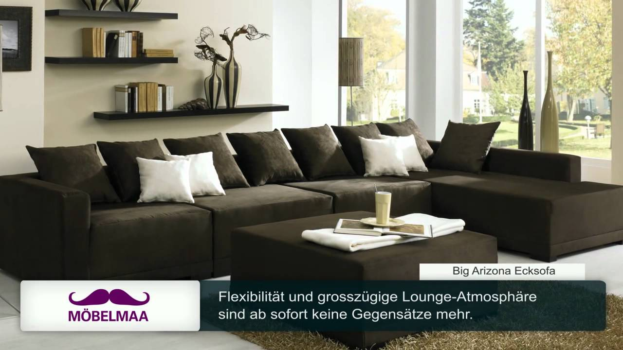 Big Arizona Sofa - Exklusives XXL-Alcantra Designer, Luxus - YouTube