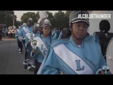 Livingstone College Marching Blue Thunder Marching In Vs Clark Atlanta University | 9.7.19