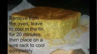 The Allergy Menu Orange Poppyseed Cake, Gluten Free, Dairy Free
