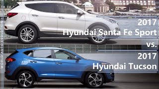 2017 Hyundai Santa Fe Sport vs 2017 Hyundai Tucson (technical comparison)