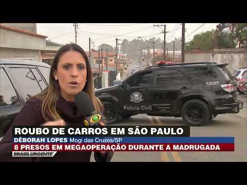 Polícia faz megaoperação contra roubo de carros em SP