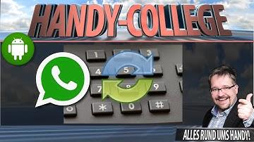 WhatsApp: Handy-NUMMER ändern, alle CHATS behalten ☛ neue Nummer wechseln   Android Tutorial   🎓#02