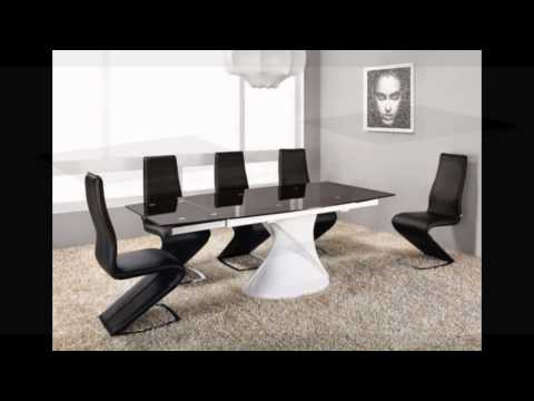Extending White High Gloss Black Gl Dining Table And Chairs Set