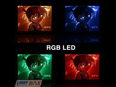 3D Paper Cut light box template file Digital SVG Files CONAN