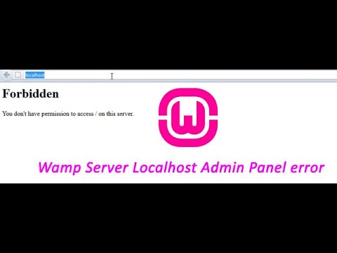 WampServer - Forbidden - You don't have permission to Access / on this server