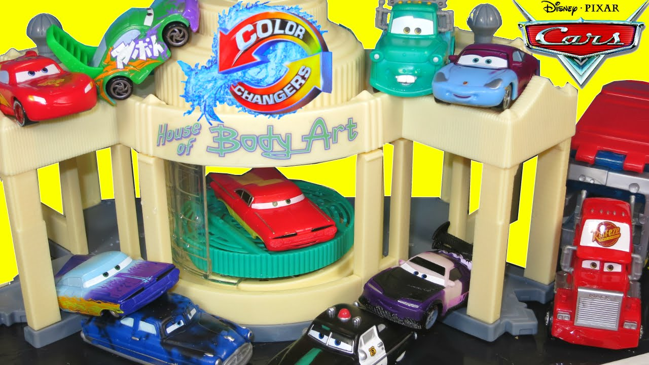 Disney Pixar Cars Color Changers Toys Ramone Paint Spray Booth