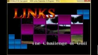 "Links - The Challenge of Golf - DOS game - Intro music - ""Think I hit the tree Jim"""