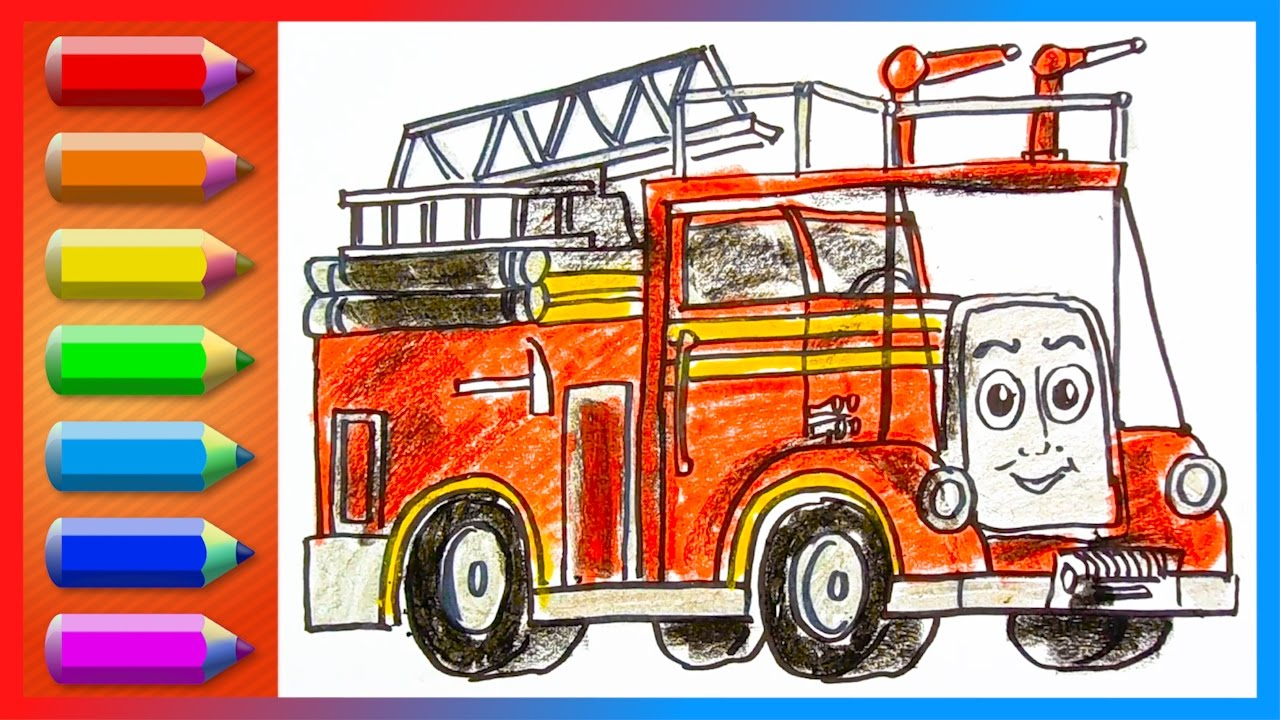 It's just a graphic of Transformative Fire Engine Drawing