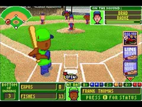Backyard Baseball (GBA) - Game 1 - YouTube