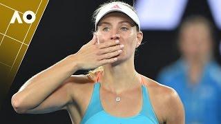 Angelique Kerber on court interview (1R)   Australian Open 2017