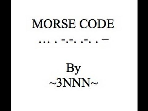 Morse Code Part 1
