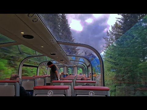 Riding the Alaska Railroad Coastal Classic along the Turnagain Arm, in the GoldStar Service Car