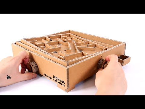 How to Make Marble Labyrinth Game | Amazing Cardboard Board Game
