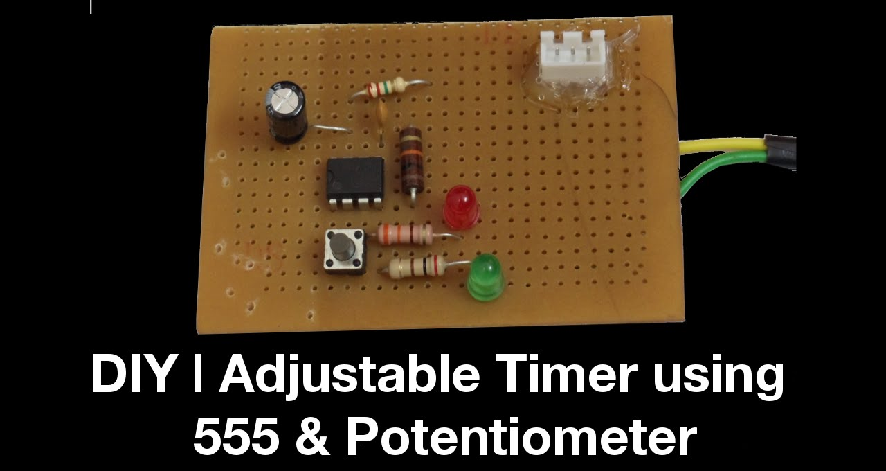 Diy Adjustable Timer Using 555 Potentiometer Youtube Circuit Further Long Duration On Off Delay