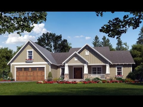Craftsman House Plan 59974 At Familyhomeplans Com Youtube