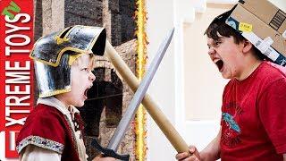 A Medieval Good Time Sneak Attack Squad Cardboard Box Castle Battle