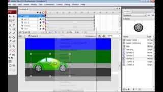 Cara Membuat Animasi Mobil Berjalan Dengan Adobe Flash