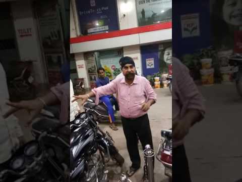 Faridabad bata ke HP petrol pump par petrol kam dalde huye pakde jane par worker or malik ka haal(3)