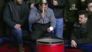 Calentamiento C.A. Osasuna vs Sevilla FC