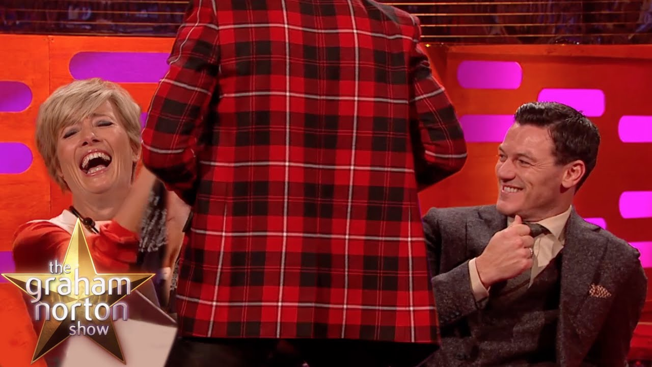 Lenny Kravitz Strips For Emma Thompson - The Graham Norton Show