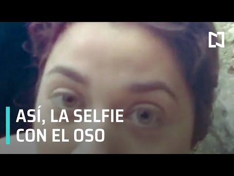 Mujer se tomó selfie con oso en Parque Ecológico Chipinque, Nuevo León - Paralelo 23
