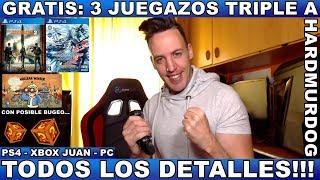 ¡¡¡GRATIS 3 JUEGAZOS: PS4 / XBOX ONE / PC!!! - Hardmurdog - Noticias - 2019 - Español