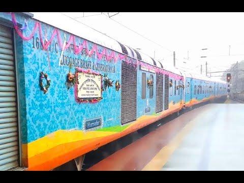 First Run Of 22317/Sealdah - Jammu Tawi Humsafar Express In Sealdah Railway Station