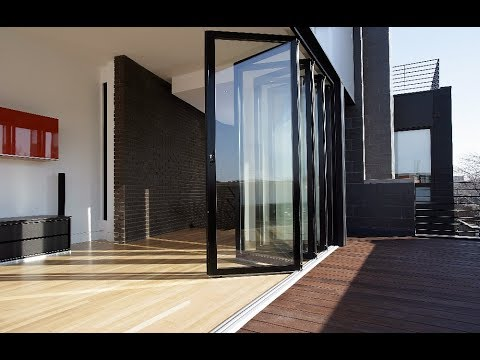 Glass Folding Doors Aluminium Exterior Designs - YouTube