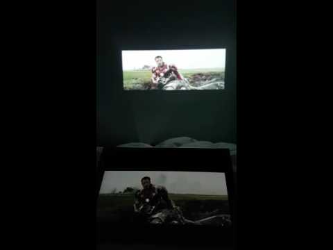 Lenovo Yoga Tab 3 Pro Projector Test With Civil War Trailer