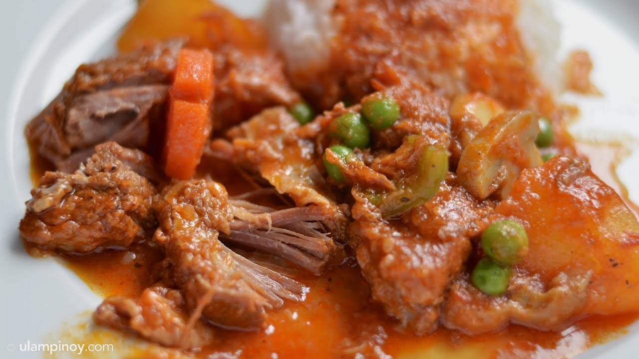 Beef MECHADO Ulam Pinoy 27HD Stew In Tomatoes