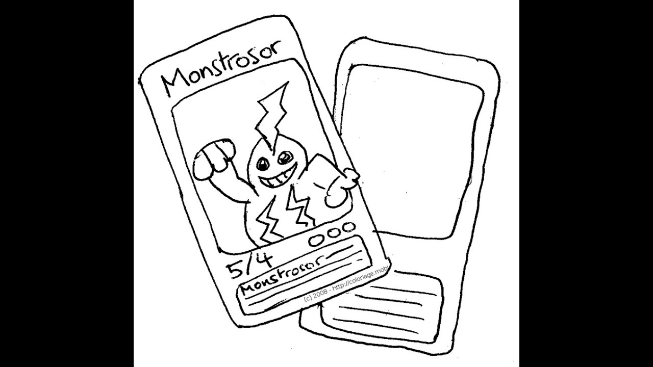 Je dessine une carte pokemon youtube - Coloriage carte pokemon ...
