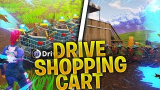 DRIVE NEW SHOPPING CART in FORTNITE! (Shopping cart GAMEPLAY) Tips on how to find shopping carts