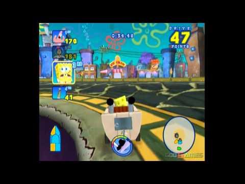 Spongebob's Boating Bash - Gameplay Wii (Original Wii)