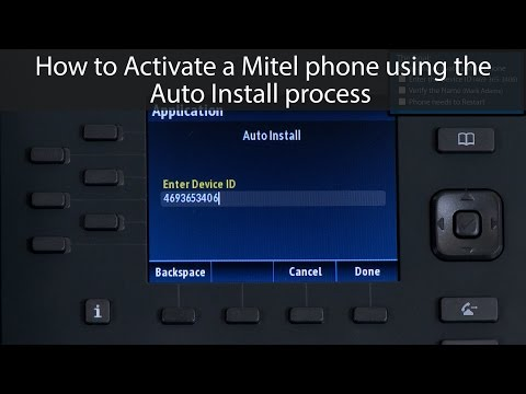 How to Activate a Mitel Phone using the Auto Install process