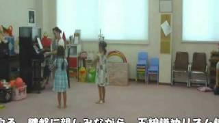 ピアノショップ沼津音楽教室で行われているリトミック教室、年中クラス...