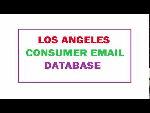 Los Angeles Consumer Email Database - 2018