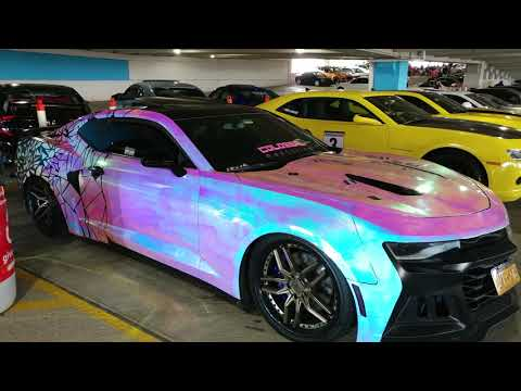 2017 PINKISH BLUE METAL WRAPPED CHEVROLET CAMARO
