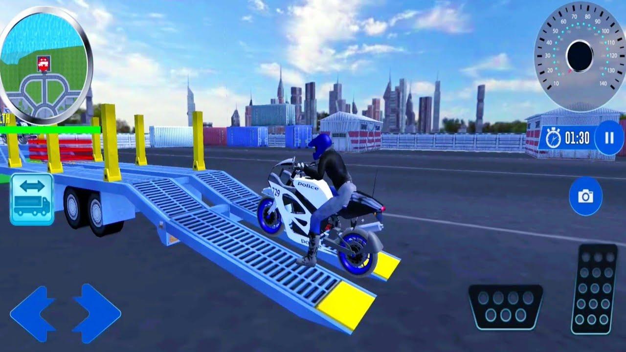 صورة فيديو : محاكي نقل دراجات الشرطة الامريكية – العاب سيارات – ألعاب أندرويد | Games