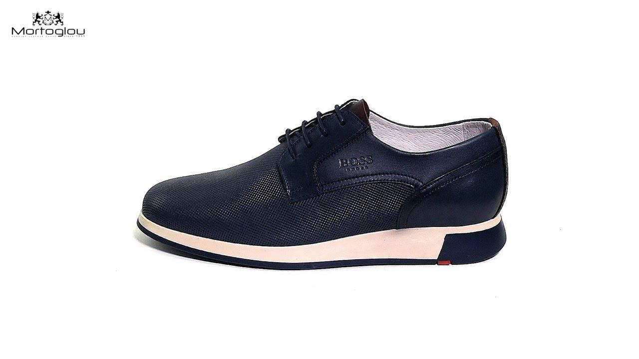 217877b4b3c Ανδρικά Παπούτσια Δετά LP250 Μπλε Δέρμα Boss shoes