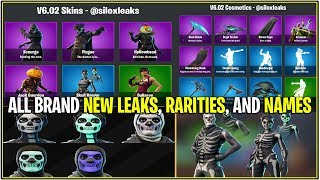 *NEW* Fortnite: ALL NEW LEAKED SKINS, EMOTES, PICKAXES, AND GLIDERS! (v6.02 Update)