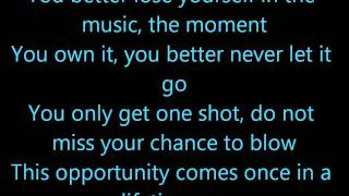 Eminem - Lose Yourself (lyrics) HD