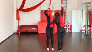 ArtArea Project: Урок по воздушной гимнастике на полотнах Крутка парная