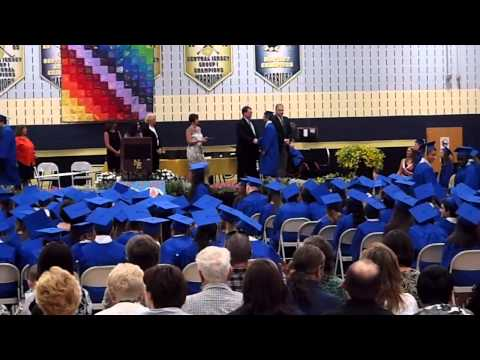New Egypt Middle School Class of 2014 - Hunter Getting Diploma